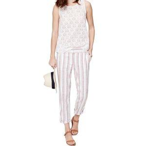New LOFT Striped Cropped Skinny Marisa Pants 2P